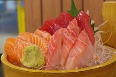 Tipo três de sashimi dos peixes Imagem de Stock