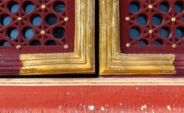 Tipo tradicional de ventana, templo del cielo, Pekín fotografía de archivo libre de regalías