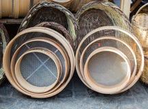 Tipo tradicional tamiz de madera Fotografía de archivo
