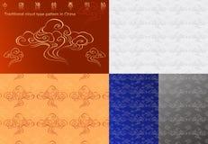 Tipo tradizionale reticolo della nube in Cina Illustrazione di Stock