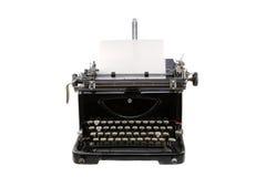 Tipo velho escritor de Alemanha com a folha de papel isolada no branco Imagem de Stock Royalty Free
