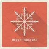 Tipográfico retro e ornamento do Natal Foto de Stock Royalty Free