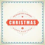 Tipográfico retro e ornamento do Natal Imagens de Stock Royalty Free