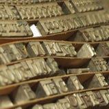 Tipografía Fotografía de archivo libre de regalías