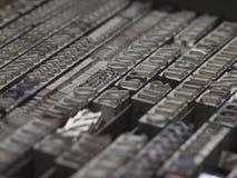 Tipografía Imágenes de archivo libres de regalías