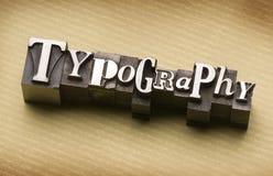 Tipografía Imagen de archivo libre de regalías