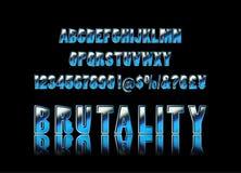 Tipografía brutal, alfabeto libre illustration