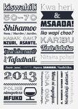 Tipografía con los elementos del infographics Foto de archivo