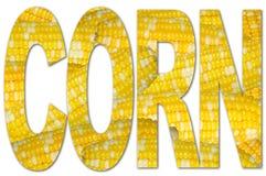 Tipografía con textura del maíz stock de ilustración