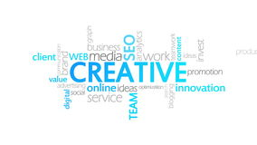 Tipografía creativa, animada stock de ilustración