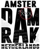 Tipografía de Amsterdam del deporte atlético, gráficos de la camiseta, vectores libre illustration