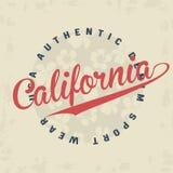 Tipografía de California para la impresión de la camiseta stock de ilustración