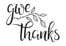 Tipografía de la acción de gracias Imagen de archivo libre de regalías