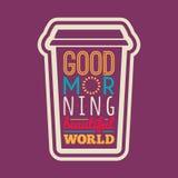 Tipografía de la buena mañana Imagen de archivo libre de regalías