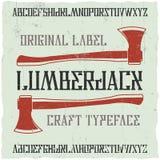 Tipografía de la etiqueta del vintage Fotos de archivo