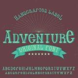 Tipografía de la etiqueta del vintage Imagen de archivo libre de regalías