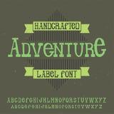 Tipografía de la etiqueta del vintage Imágenes de archivo libres de regalías