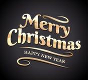Tipografía de la Feliz Navidad Fotos de archivo libres de regalías