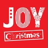 Tipografía de la Navidad de la alegría Fotografía de archivo libre de regalías