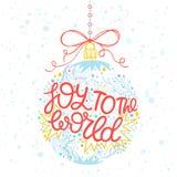 Tipografía de la Navidad y del Año Nuevo Foto de archivo