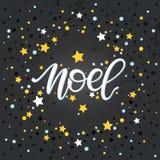 Tipografía de la Navidad y del Año Nuevo Fotografía de archivo libre de regalías