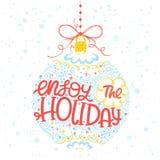 Tipografía de la Navidad y del Año Nuevo Fotografía de archivo