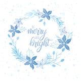 Tipografía de la Navidad y del Año Nuevo Imagen de archivo libre de regalías