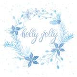 Tipografía de la Navidad y del Año Nuevo Foto de archivo libre de regalías