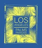 Tipografía de la resaca de Los Ángeles, gráficos de la camiseta, vectores stock de ilustración