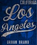 Tipografía de Los Ángeles de la universidad, gráficos de la camiseta stock de ilustración