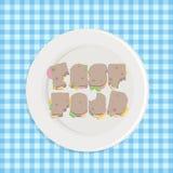 Tipografía de los alimentos de preparación rápida Imagenes de archivo