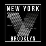 Tipografía de New York City, Brooklyn para la impresión de la camiseta Gráficos de la camiseta libre illustration