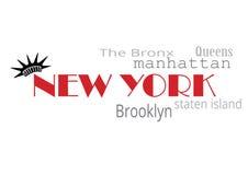 Tipografía de Nueva York Imágenes de archivo libres de regalías