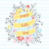 Tipografía de Pascua Fotografía de archivo libre de regalías