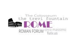 Tipografía de Roma Fotos de archivo libres de regalías