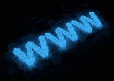 Tipografía de WWW que brilla intensamente Foto de archivo libre de regalías