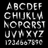 Tipografía del alfabeto del vector fijada con números Foto de archivo libre de regalías