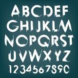 Tipografía del alfabeto del vector fijada con números Imagenes de archivo