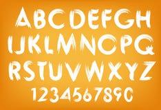 Tipografía del alfabeto del verano del vector fijada con números Fotografía de archivo libre de regalías