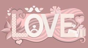 Tipografía del amor Ilustración del vector Foto de archivo libre de regalías