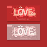 Tipografía del amor Ilustración del vector Imagen de archivo