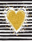 Tipografía del brillo del oro Imágenes de archivo libres de regalías
