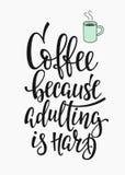Tipografía del café del amor de la cita libre illustration