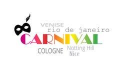 Tipografía del carnaval Fotos de archivo
