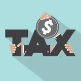 Tipografía del impuesto con diseño del dinero Imagen de archivo libre de regalías