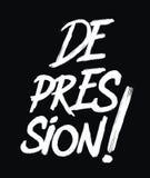 Tipografía del texto de la depresión libre illustration