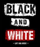 Tipografía del vector blanco y negro Foto de archivo