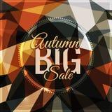 Tipografía del vector de la venta del otoño en triangular Foto de archivo libre de regalías