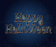 Tipografía del vector del feliz Halloween Fotos de archivo
