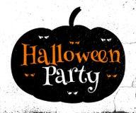 Tipografía del vector del feliz Halloween Imagenes de archivo